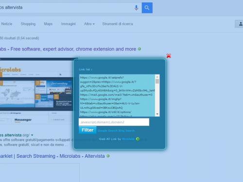 Bookmarklet   Grab All Link   Google Parser   Bing Parser