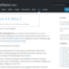 WordPress 4.6 Beta 2