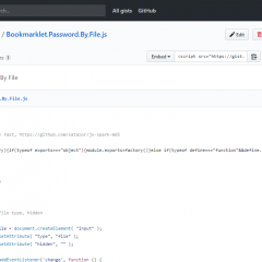 Bookmarklet Password By File