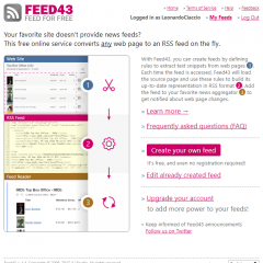 Feed43 : Convert any web page to news feed on the fly